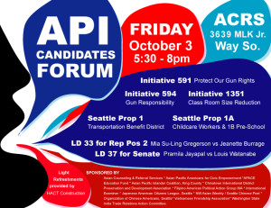 Apace Education Fund Co-sponsors the APIA Candidates Forum, Oct 3rd