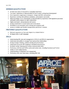 2018 APACE Executive Director Job Description